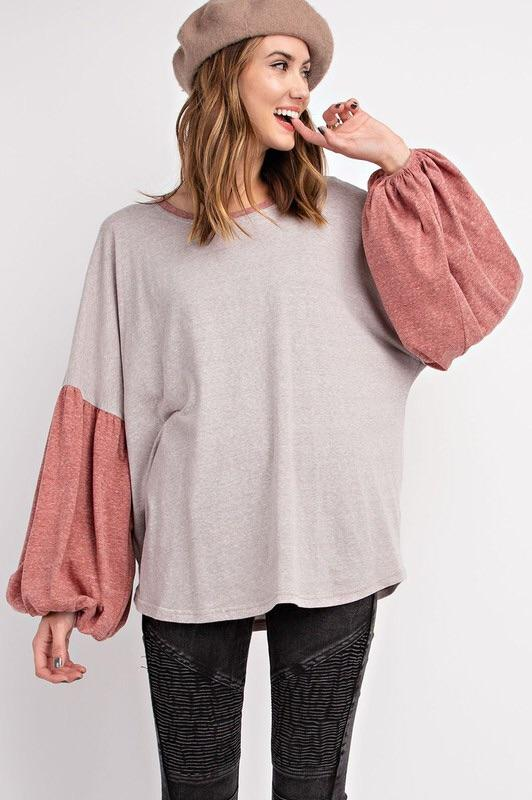 Mushroom Bubble Sleeve Top Top ~
