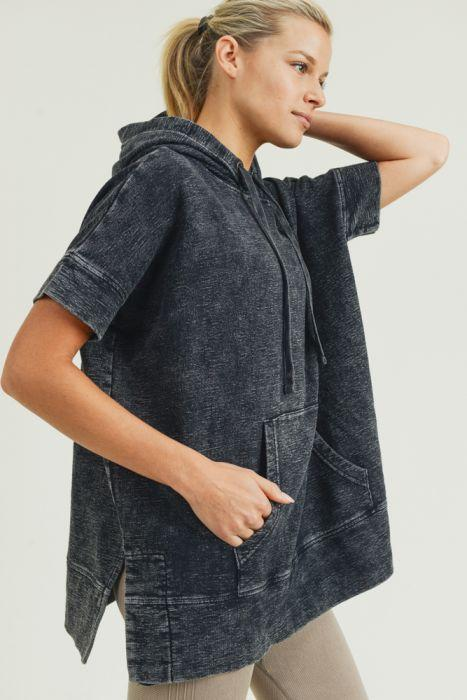 Nora Mineral Wash Long Line Pullover Pullover ~