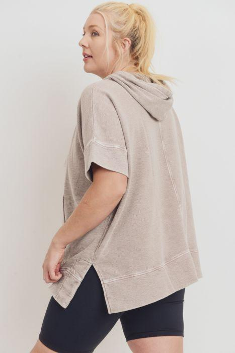 Nora Mineral Wash Pullover - Dusty Pink Pullover ~