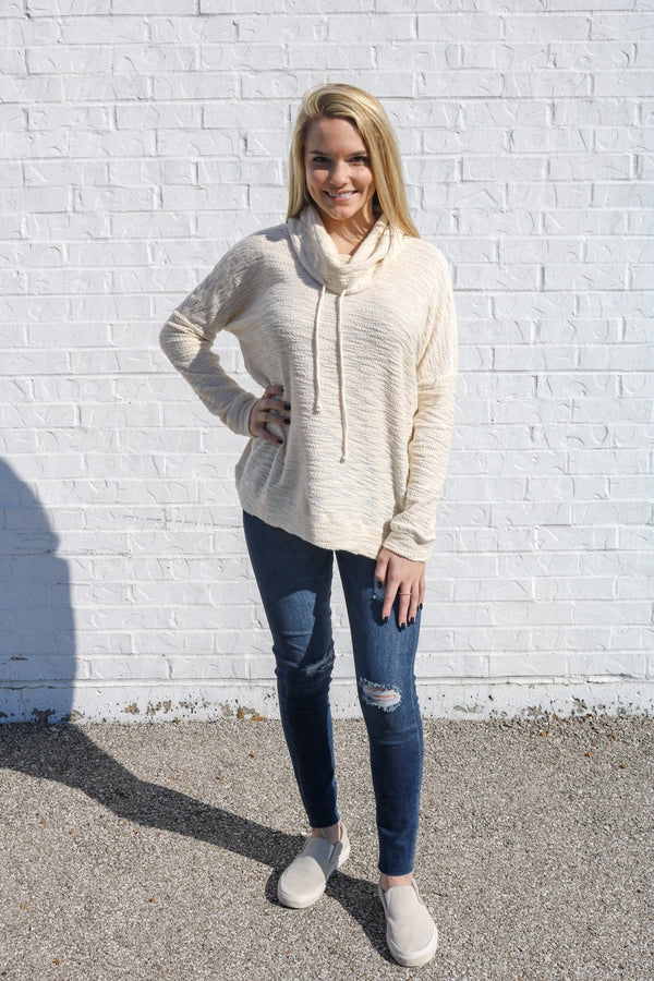 Oatmeal Cowl Neck Pullover Pullover Jack by BB Dakota
