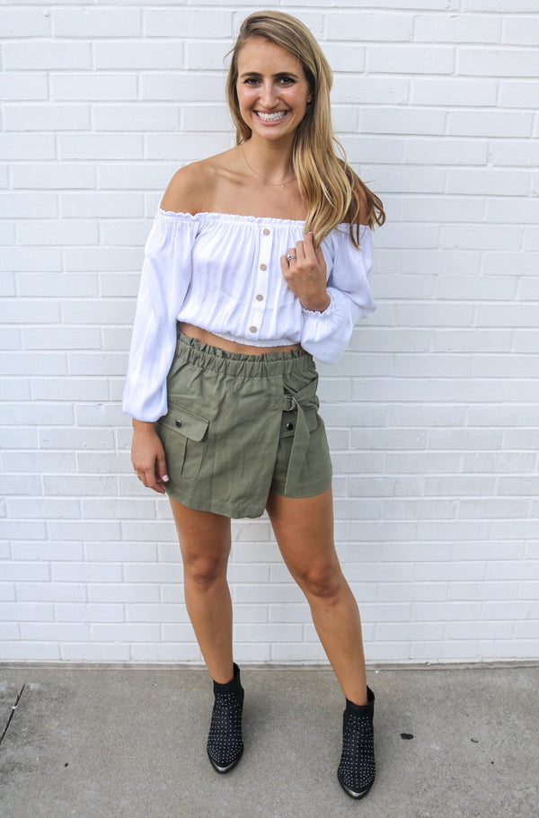 Olive Cargo Shorts Shorts Jack by BB Dakota