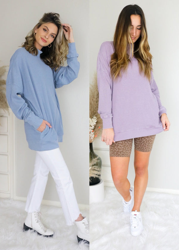 On The Move Waffle Pullover Pullover Mono B