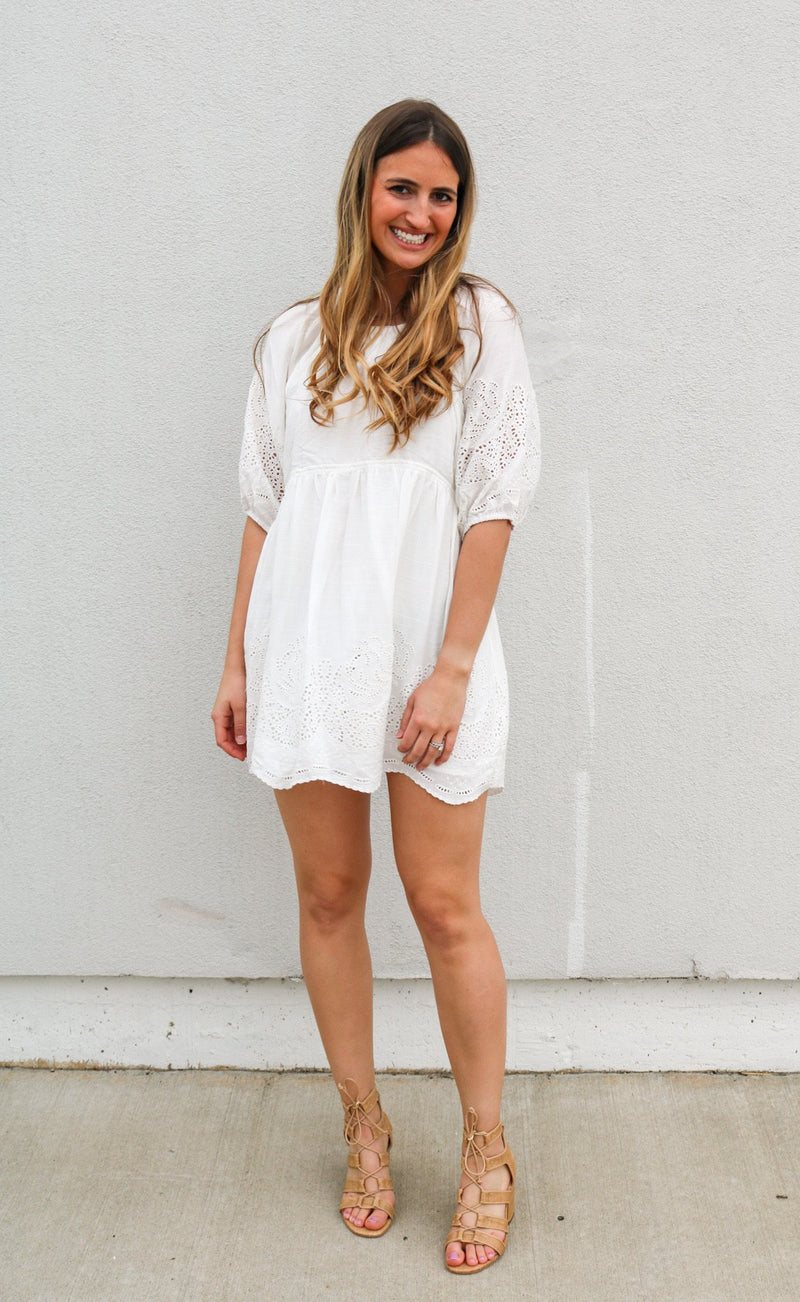 Parkes Embroidered Dress Dress ~