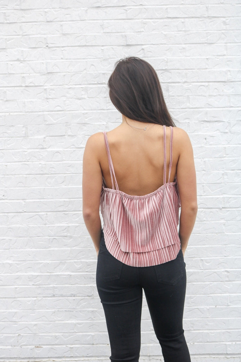 Pink Suede Tank Top Jack by BB Dakota