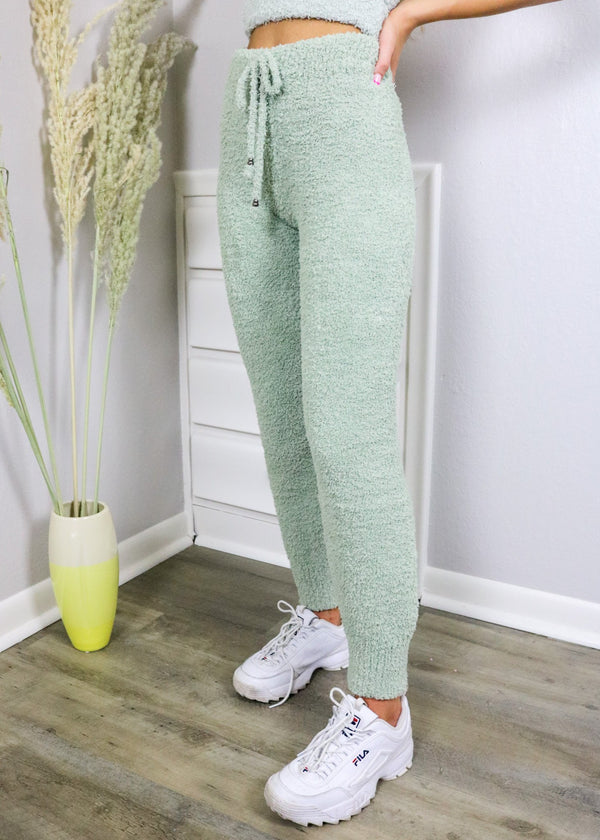 Plush Sage Lounge Joggers bottoms ~