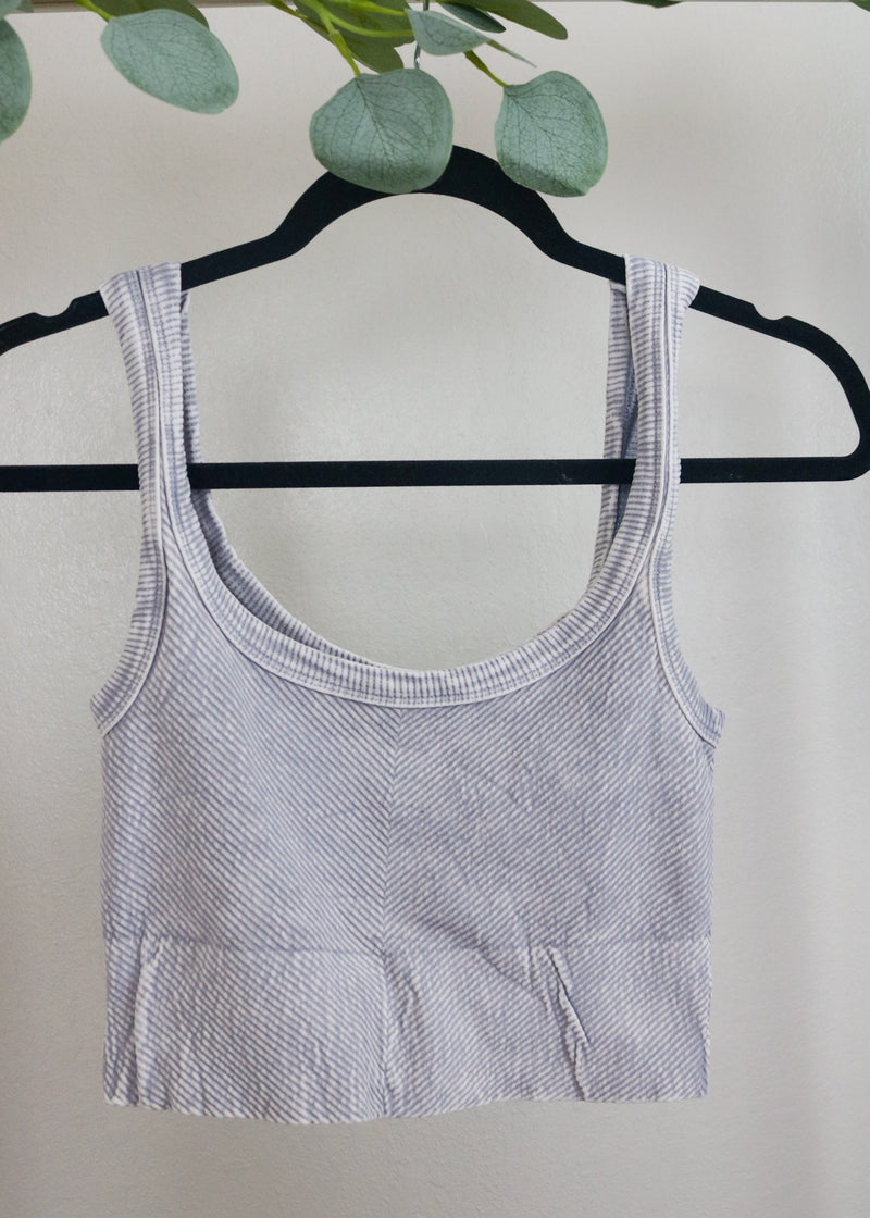 Poppy Ribbed Cropped Tank Tops ~