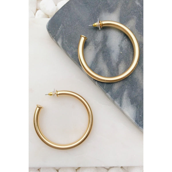 Retro Tube Hoop Earrings Accessory Ellison + Young