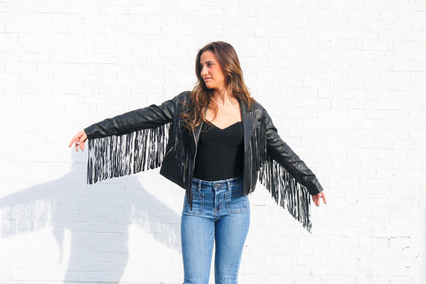 Ride Or Die Fringe Leather Jacket Jacket ~
