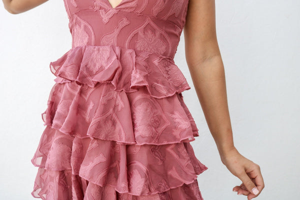 Rose Ruffle Dress Dress ~