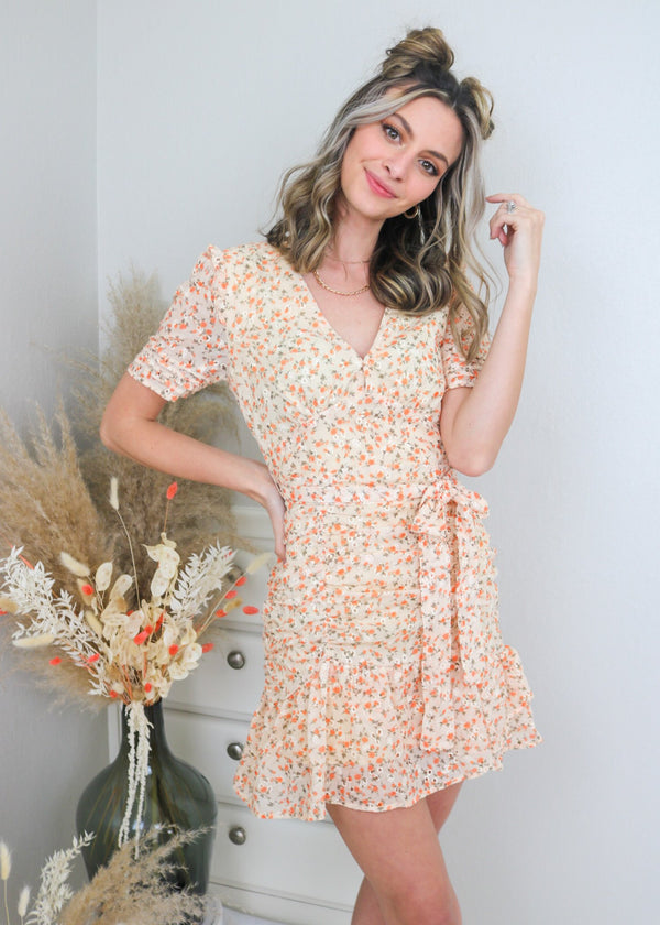 Rosie Floral Fitted Dress Dress Storia