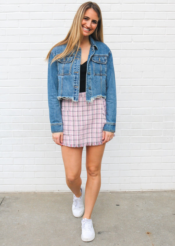 Ryan Pink Tweed Skort Shorts ~