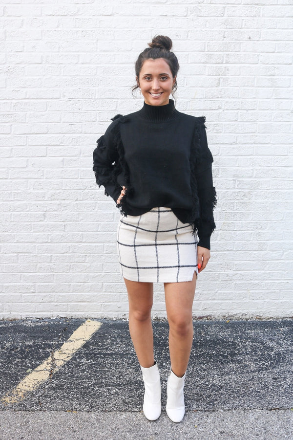 Serena Plaid Skirt Skirt ~