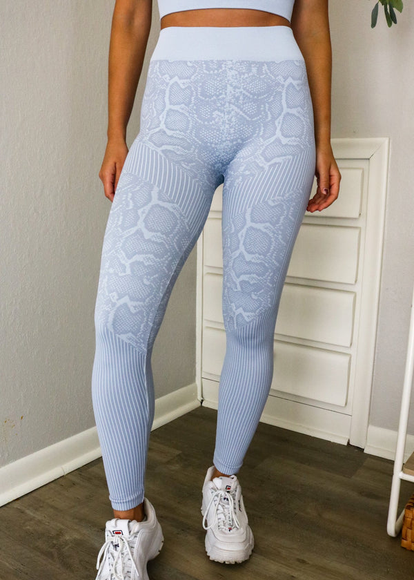 Snakeskin Seamless Leggings Bottoms ~
