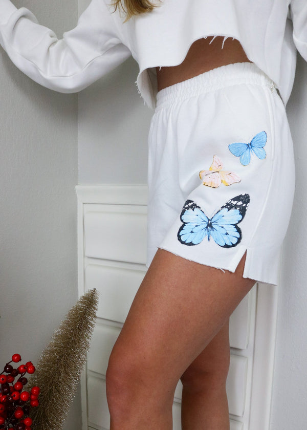 Sophie Butterfly Sweat Shorts Shorts Bailey Rose