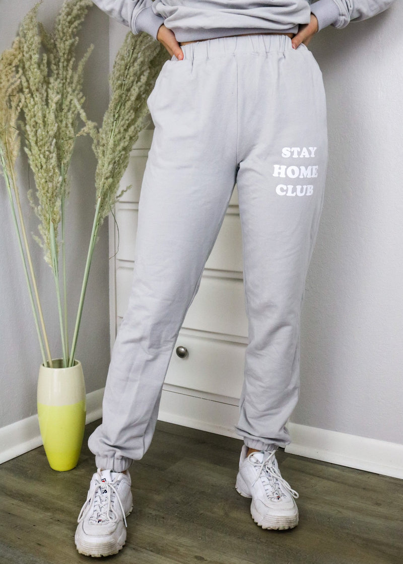 Stay Home Club Grey Sweatpants Set Bailey Rose