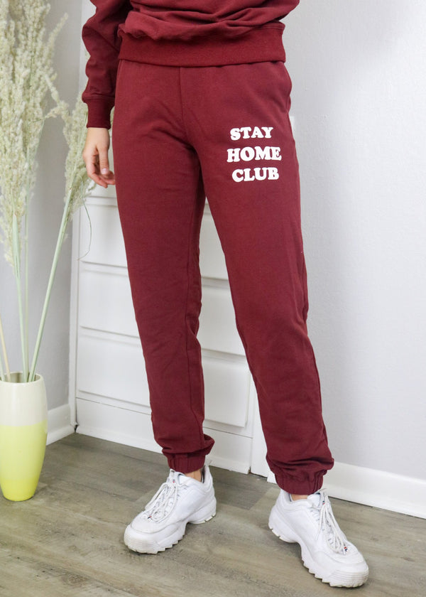 Stay Home Club Wine Sweatpants Set Bailey Rose
