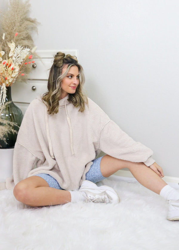 Staying In Fuzzy Pullover - Ivory Outerwear Wishlist