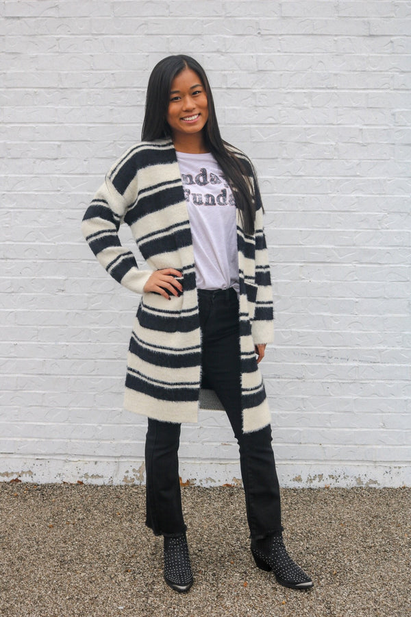 Striped Chic Cardigan Cardigan ~