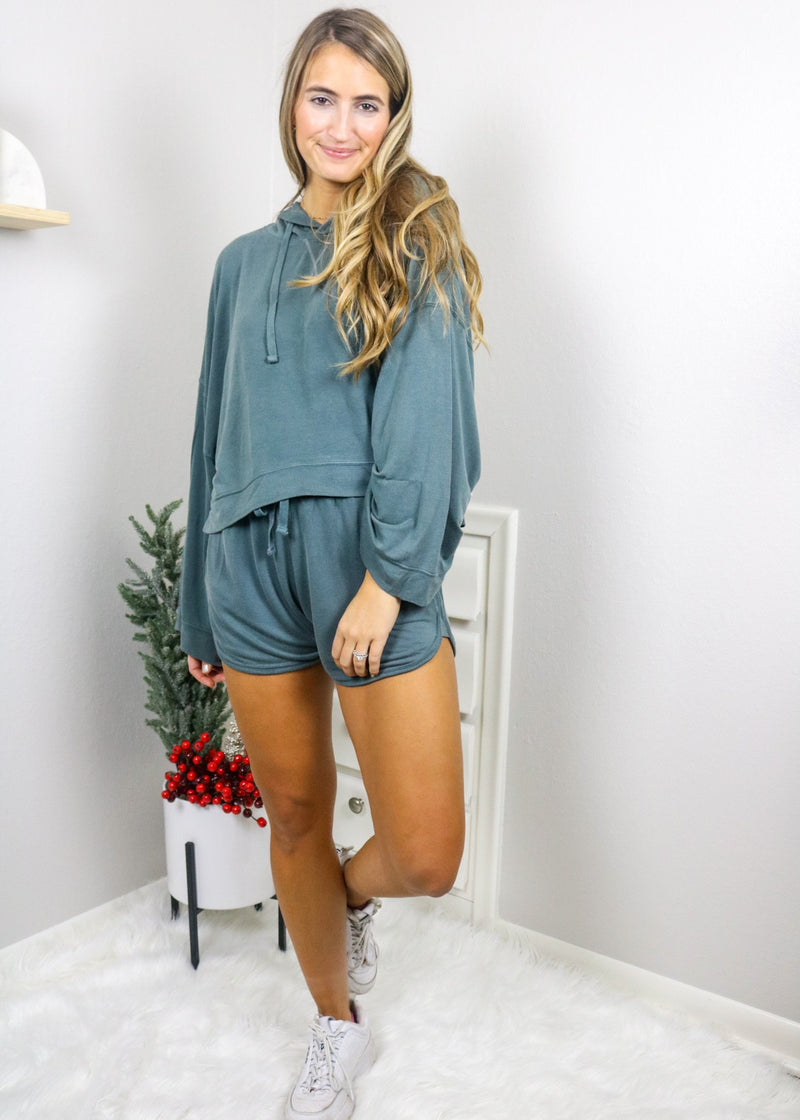 Take It Easy Cropped Pullover Pullover Mono B