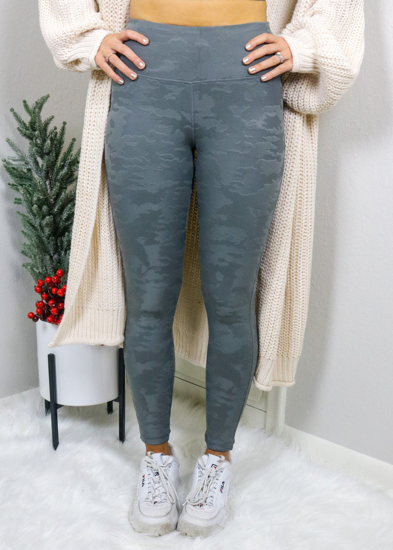 Textured Camo Leggings Bottoms Mono B
