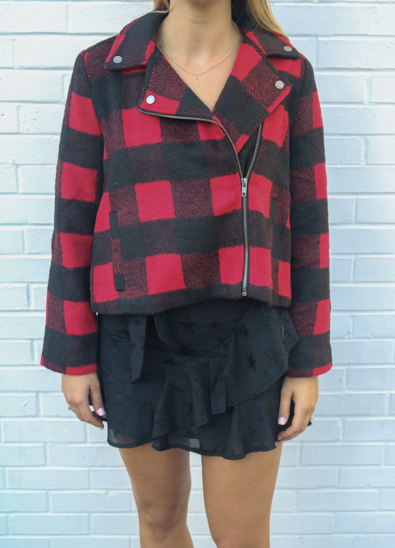 Total Package Plaid Jacket Jacket Jack by BB Dakota