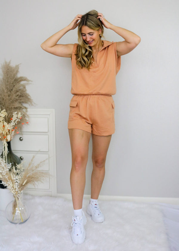 Weekend Travels Shorts Set Set Blue Blush