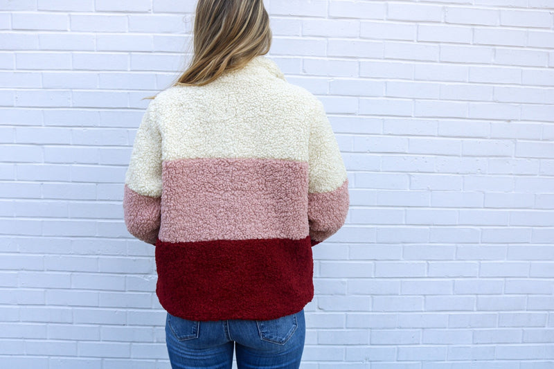 West End Colorblock Sherpa Jacket Sadie & Sage