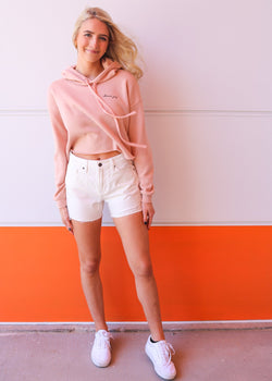 White Denim Mom Shorts Shorts Hidden Denim