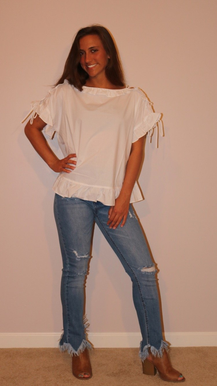 White Picnic Top Tops ~