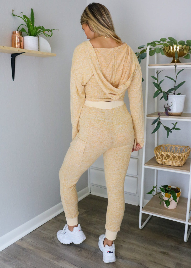 Yellow Lounge Joggers Set ~