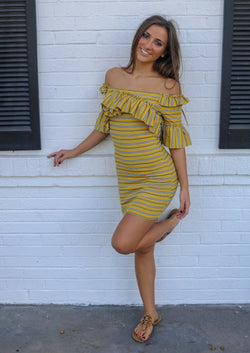 Yellow Ruffle Dress Dress ~