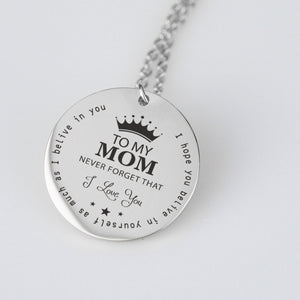 To My Mom - Gold Pendant