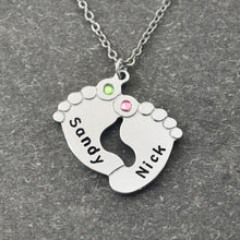 Personalized name and birthstones Necklace