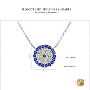 Authentic 925 Sterling Silver Round Blue Eyes Clear CZ Tennis Jewelry Sets - AEIGARTZ.COM