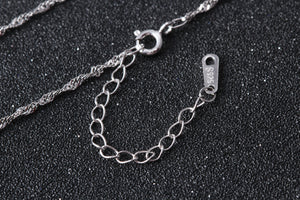 100% Real Pure S925 Silver 40cm 45cm Water-wave Chain with 925 Sterling Silver Chain Accessories - AEIGARTZ.COM