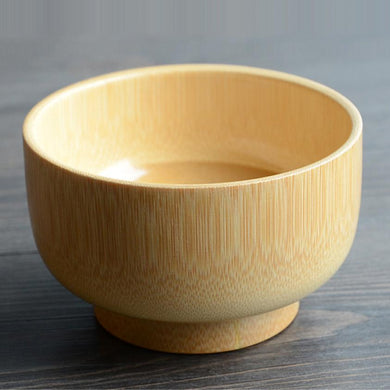 ECO friendly All Natural and Organic Bamboo Suction Stay Bowl 1pc - AEIGARTZ.COM
