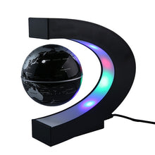 LED Floating Tellurion Globe C Shape Magnetic Levitation Light World Map With LED Tellurion - AEIGARTZ.COM