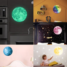 30CM Glow in the dark moon & earth luminous stickers - AEIGARTZ.COM