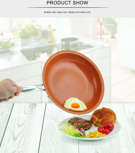 Non-stick Copper Ceramic Coating Frying Pan - AEIGARTZ.COM