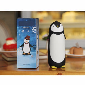 (1pcs / 280ml) Penguin Shaped ABS Vacuum Glass Water Bottle - AEIGARTZ.COM