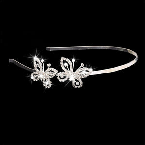 Butterfly Shaped Rhinestone Tiara / Hairband/ Hair Loop - AEIGARTZ.COM