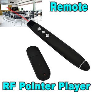 USB Wireless Powerpoint Presentation RF Remote Control Red Laser Pointer - AEIGARTZ.COM