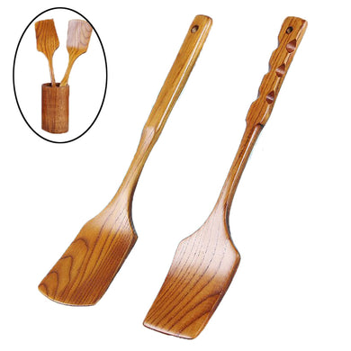 Non-stick Eco-friendly Portable Bamboo Wooden Utensil Set - AEIGARTZ.COM