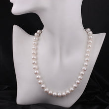 Large 10mm Natural Pearl Necklace - AEIGARTZ.COM