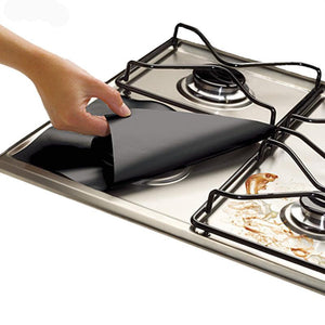 Creative 4pcs/set Reusable Non-stick Foil Gas Range Stovetop Burner Liner Cover - AEIGARTZ.COM