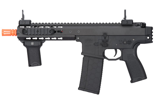 "Lancer Tactical Warlord 8"" Type C Airsoft SMG, Low FPS Version, Black"