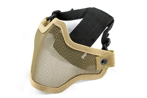 Raptors Airsoft Tan Version Two Wire Mesh Half Face Mask W/ Better V2 Double Strap System