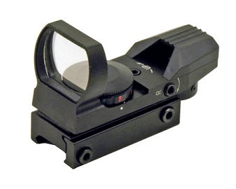 Tactical Holographic Full Metal Reflex Red Green Dot Sight 4 Type Reticle for 20mm Rails