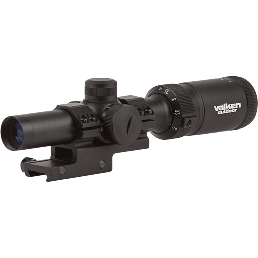 Valken Tactical 1-4x20 Variable Zoom Mil-Dot Illuminated Scope