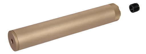 Specwar-II F38X228.6MM Style Aluminum Mock Silencer, 14mm CCW - Tan